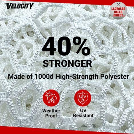 Velocity 5MM White Lacrosse Net