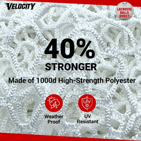 Velocity 7MM White Lacrosse Net